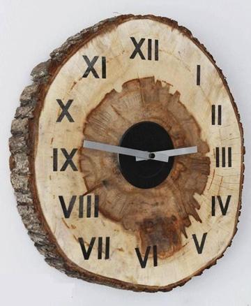 manualidades con madera reciclada reloj