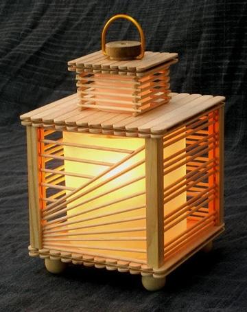 manualidades con paletas de helado lampara