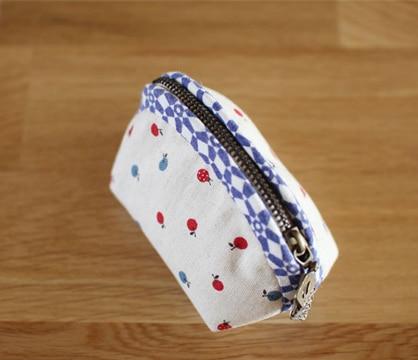 monederos hechos a mano de tela