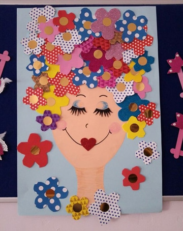 murales para el dia de la madre creativo