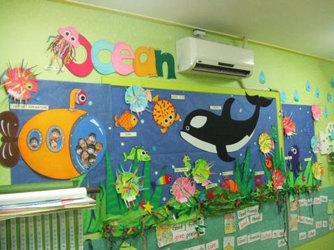 periodicos murales creativos sobre oceano