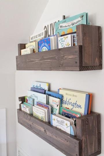 repisas de madera para niños sencilla