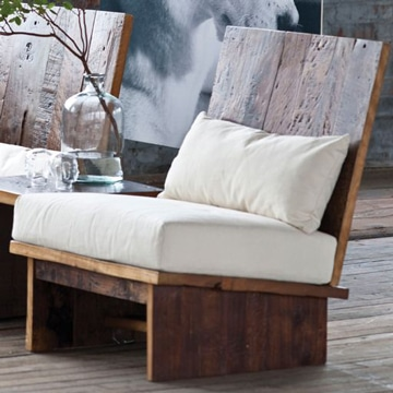 sillones con palets de madera para interior
