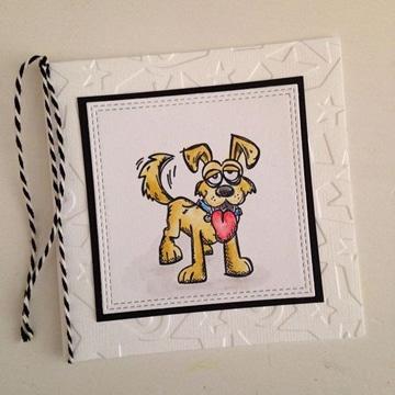 tarjetas de cumpleaños con perros blanca