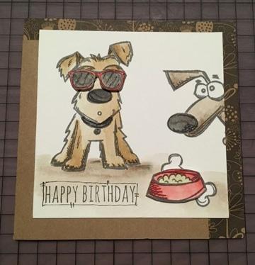 tarjetas de cumpleaños con perros ideas