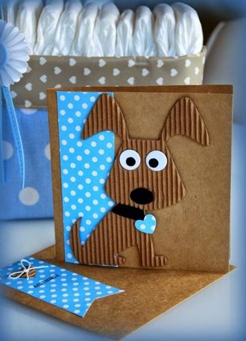 tarjetas de cumpleaños con perros reciclaje