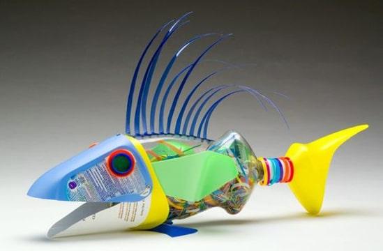animales con botellas de plastico recicladas
