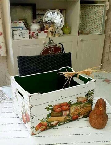 cajones de verdura decorados para casa