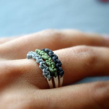 como hacer anillos de bisuteria tejidos