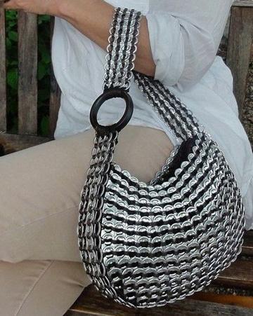 como hacer bolsas de anillas de lata super comodas