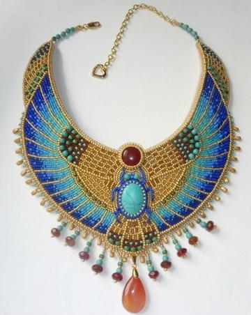 como hacer collares egipcios elegantes