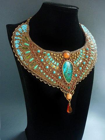 como hacer collares egipcios estilo cleopatra