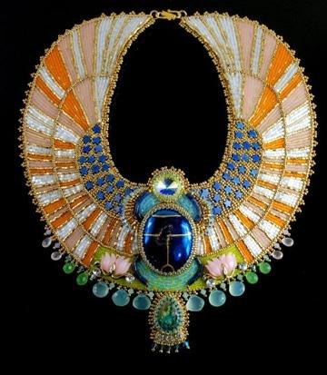 como hacer collares egipcios originales