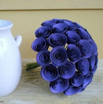 como hacer flores en cartulina para ramo