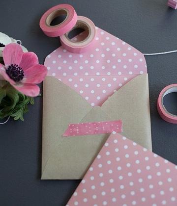 como hacer sobres de cartulina para invitaciones