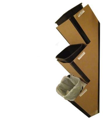 como hacer un basurero de carton facil