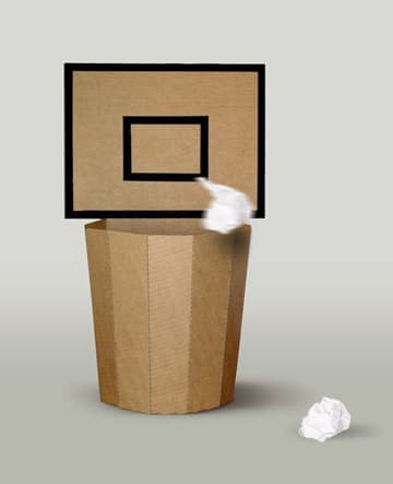 como hacer un basurero de carton infantil
