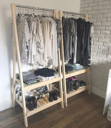 como hacer un closet reciclado con madera