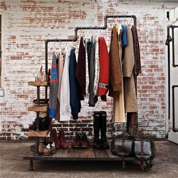 como hacer un closet reciclado industrial