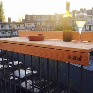 como hacer una barra de bar casera en balcon