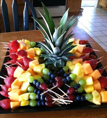 decoracion de frutas para fiestas ideas sencillas