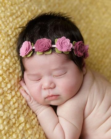 diademas de flores para bebes pequeñas