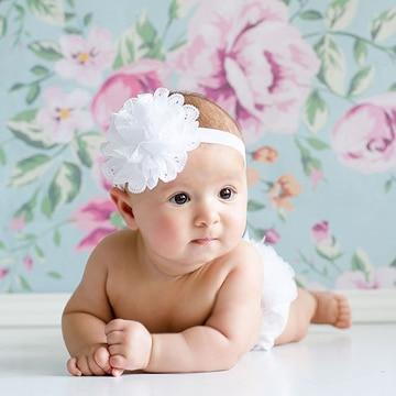 diademas de flores para bebes sencillas