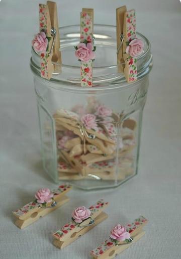 ganchos de ropa decorados florales