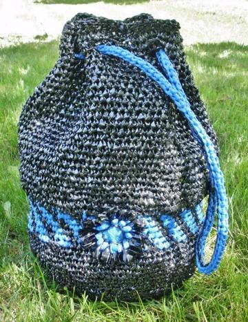 manualidades con bolsas de plastico para carteras