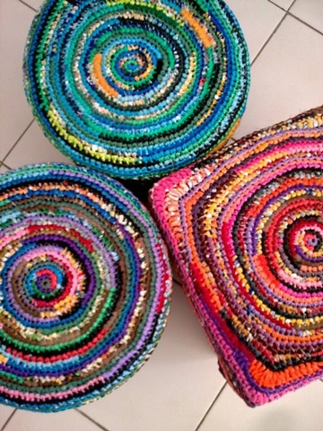 manualidades con bolsas de plastico para tapetes