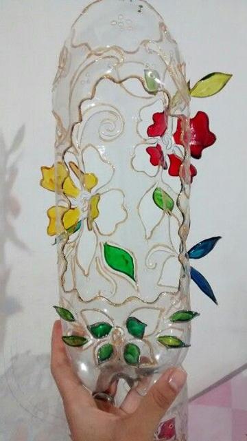 manualidades con botellas pets decorativas