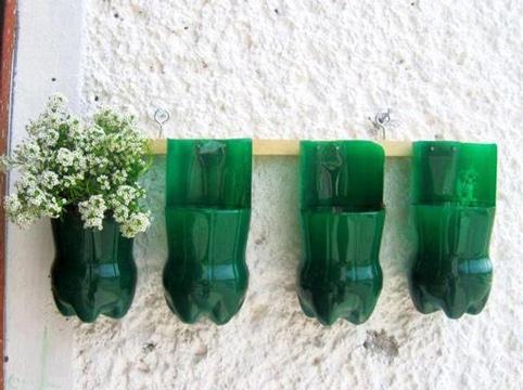 manualidades con botellas pets para flores