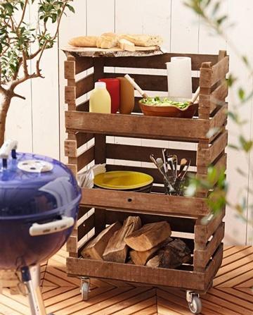muebles con cajones de verdura con ruedas