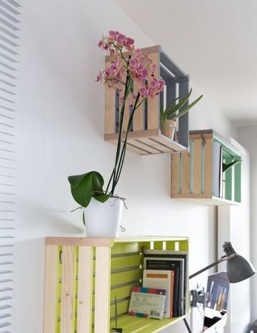 muebles con cajones de verdura reciclados