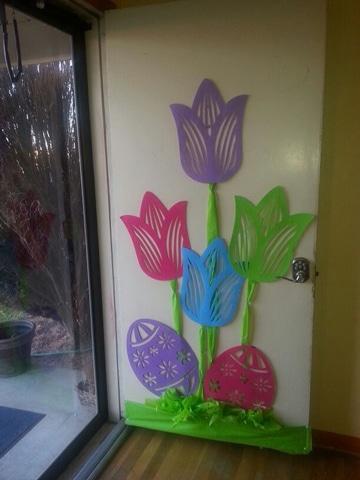puertas decoradas para niños de flores