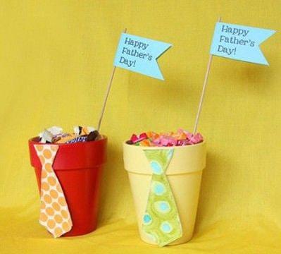 regalos para papa hechos por niños con dulces