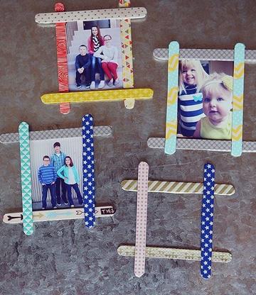 regalos para papa hechos por niños con paletas