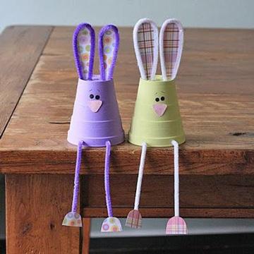 adornos con vasos desechables para niños