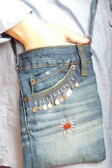 carteras de jeans hechas a mano faciles