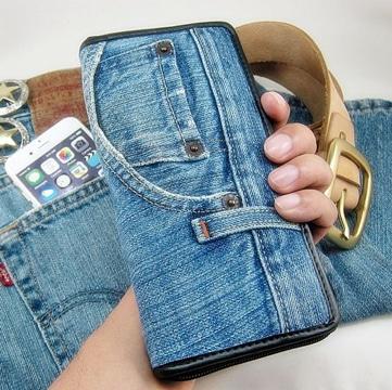 carteras de jeans hechas a mano pequeñas