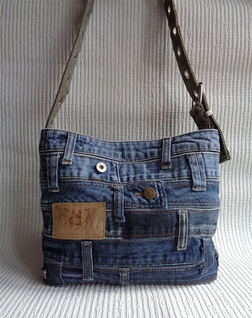 carteras de jeans hechas a mano reciclando