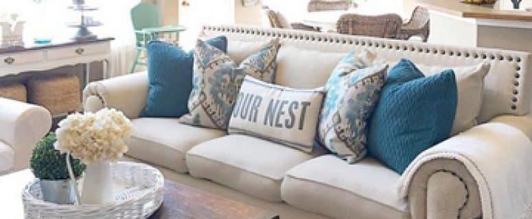 Cojines modernos para sofas cojines para el sof set de cojines de microfibra batik u blanco - Modelos de cojines decorativos ...