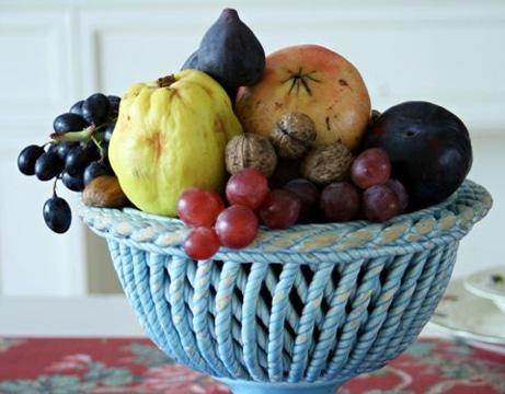 como decorar con frutas la mesa