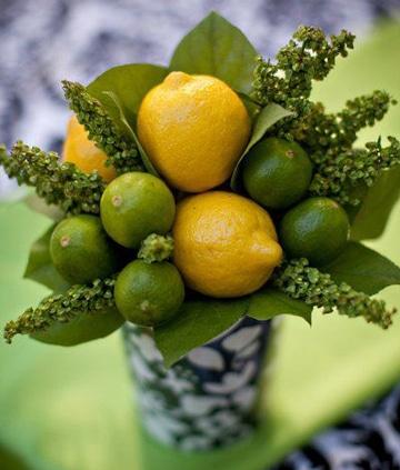 como decorar con frutas naturales