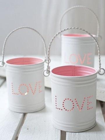 como decorar tarros de lata porta velas