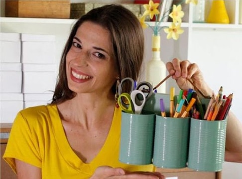 como decorar tarros de lata reutilizables