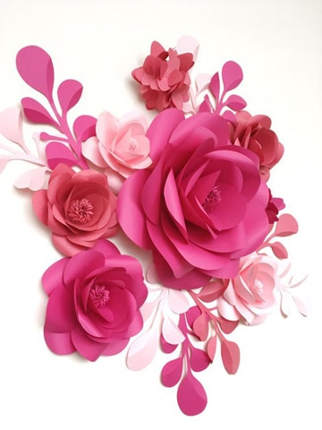 como elaborar flores de papel de colores