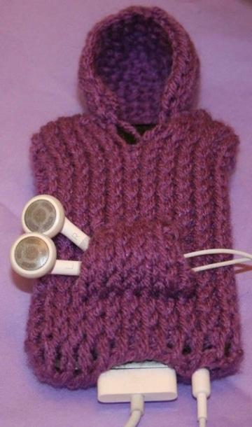como hacer forros para telefonos tejidos