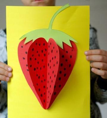 como hacer frutas de papel en tarjeta