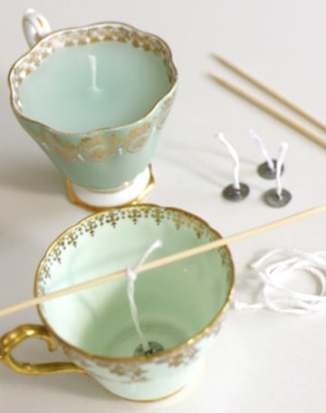 como hacer mechas para velas en tazas